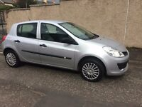 56 renault clio 1.2 expression 5 door hatchback.petrol.manual.12 months mot/warranty.