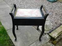 Nice old piano / dressing table stool