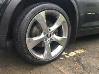 BMW X3/x4 chrome wheels and tyres.