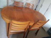 Great dining table set with 4 chairs. Feel free to ask questions