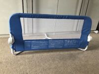 Blue lindam child's bed guard