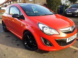 2014 VAUXHALL CORSA 1.2 LIMITED EDITION 3DR,29000 MILES,RED WITH BLACK ROOF,GRAB A BARGAIN.