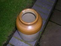 A stone ware storage jar.