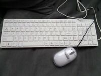 White Keyboard & Mouse