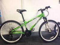 "Kids 24"" green mtb bike with gears"