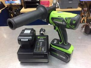 Perceuse GREENLEE 1/2 21.6V 2 x batterie + chargeur ***Excellente Condition*** #F025945