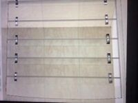 Used but great condition folding glass shower screen