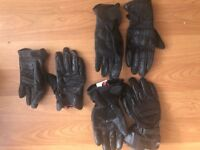 3 pairs of Ladies Motorbike Gloves