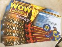 Circus tickets in Brighton on Wednesday grandstand ticket