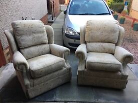 Three seater sofa and two chairs ( G Plan)