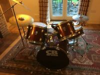 8 Piece CB Drum Kit (includes Stool) - great condition