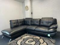 Absolutely gorgeous black leather Harvey's corner sofa delivery 🚚 sofa suite couch furniture