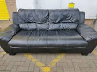 leather sofa - delivery available