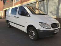 Mercedes-Benz Vito 2008 2.1 115CDI Dualiner Basic Long Panel Van 5 door, 1 OWNER, NO VAT, 6 SEATER