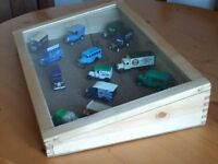 Display box with 15 die-cast model cars included