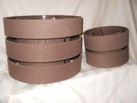 Lampshades Brown 1 pr, Excellent Condition, Smoke Free Home, B & Q Colour Range.