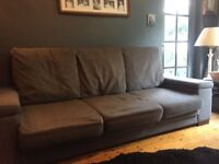 Contemporary grey Sofa three Seater
