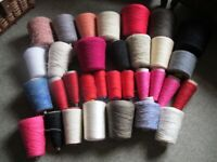 Machine Knitting wool on cones