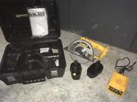 Dewalt battery powered metal cutting saw
