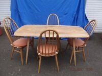 Ercol Genuine Dining Table and 4 Chairs.
