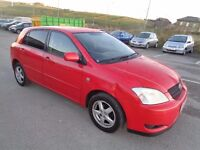 2003 TOYOTA COROLLA 1.6 T3 5 DOOR HATCHBACK RED 12 MONTHS M.O.T