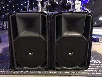 Pre Loved RCF 722a, 750watt 130db Pair PA Speakers