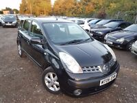 Nissan Note 1.6 16v SE 5dr, 1 FORMER KEEPER, HPI CLEAR, LONG MOT, LOW MILEAGE, P/X WELCOME