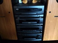 Technics ch550 stack system used condition + tannoy x 2 tall speakers