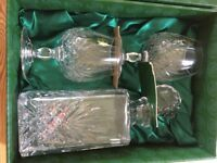 Cuchulainn Irish Crystal decanter and 2 brandy glasses