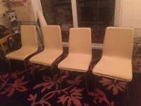 4 Next Cream chairs
