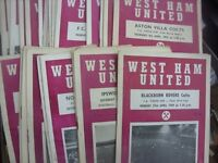 OLD FOOTBALL PROGRAMMES & MEMORABILIA WANTED - WHOLE COLLECTIONS PURCHASED, DISTANCE NO OBJECT