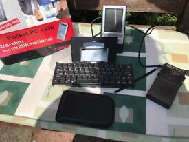 Pocket computer keyboard and PDA