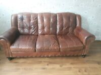 Sofa 3 seater from DFS. Brown rustic looking.