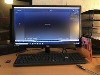 ADMI Powerful Desktop Computer 21.5 Inch 1080p Monitor, Keyboard & Mouse Set
