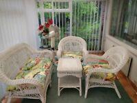 Wicker furniture conservatory set