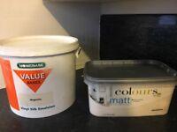 2.5 litre mattemulsion and 5 litre silk emulsion