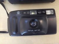 The Minolta Riva AF 35, with case