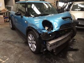 2003 MINI COOPER S 1.6 PETROL SUPERCHARGED BREAKING 3 DOOR BLUE