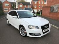2011 AUDI A3 1.6 TDI SE 3 DOOR WHITE FACELIFT GENUINE MILEAGE HPI CLEAR NOT SPORT S LINE SPORTBACK
