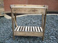 Solid wood garden potting bench see pictures for details