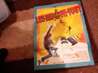 Original 1970's french movie poster of the film stunts;. Great graphics. Used.