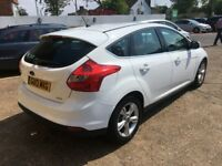 2013 FORD FOCUS 1.6 ZETEC TDCI WHITE 5 DOOR NEW MOT 92 000 MILES