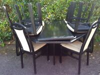 DINNING CHAIRS AND TABLE