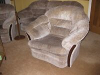 Free to collect, Sofa and two armchairs, Good condition, no pets non smoking house.