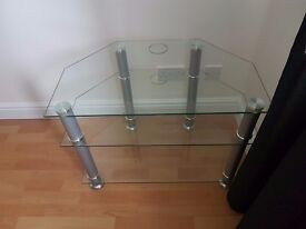 TV Stand Glass Triple Level