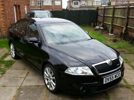STUNNING SKODA OCTAVIA VRS IN BLACK WITH LOW MILEAGE ONLY 65K (VOSA VERIFIED MILLAGE) FSH HPI CLEAR