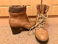 Size 7 heeled leather boots