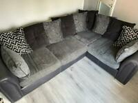 Corner sofa and storage footstool
