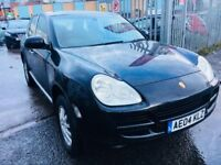 PORSCHE CAYENNE 3.2 V6 PETROL MANUAL BLACK 2004 LEATHER SEATS FULL HISTORY DRIVES NICE