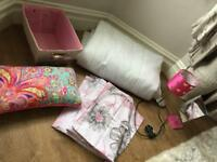 Single bed / duvet. Pink collection